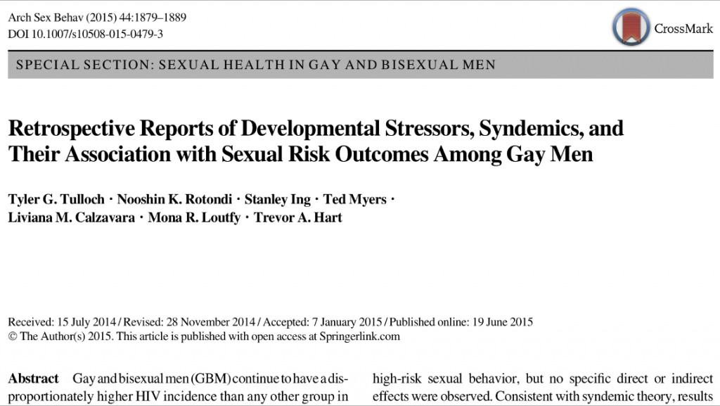 Retrospective reports of developmental stressors